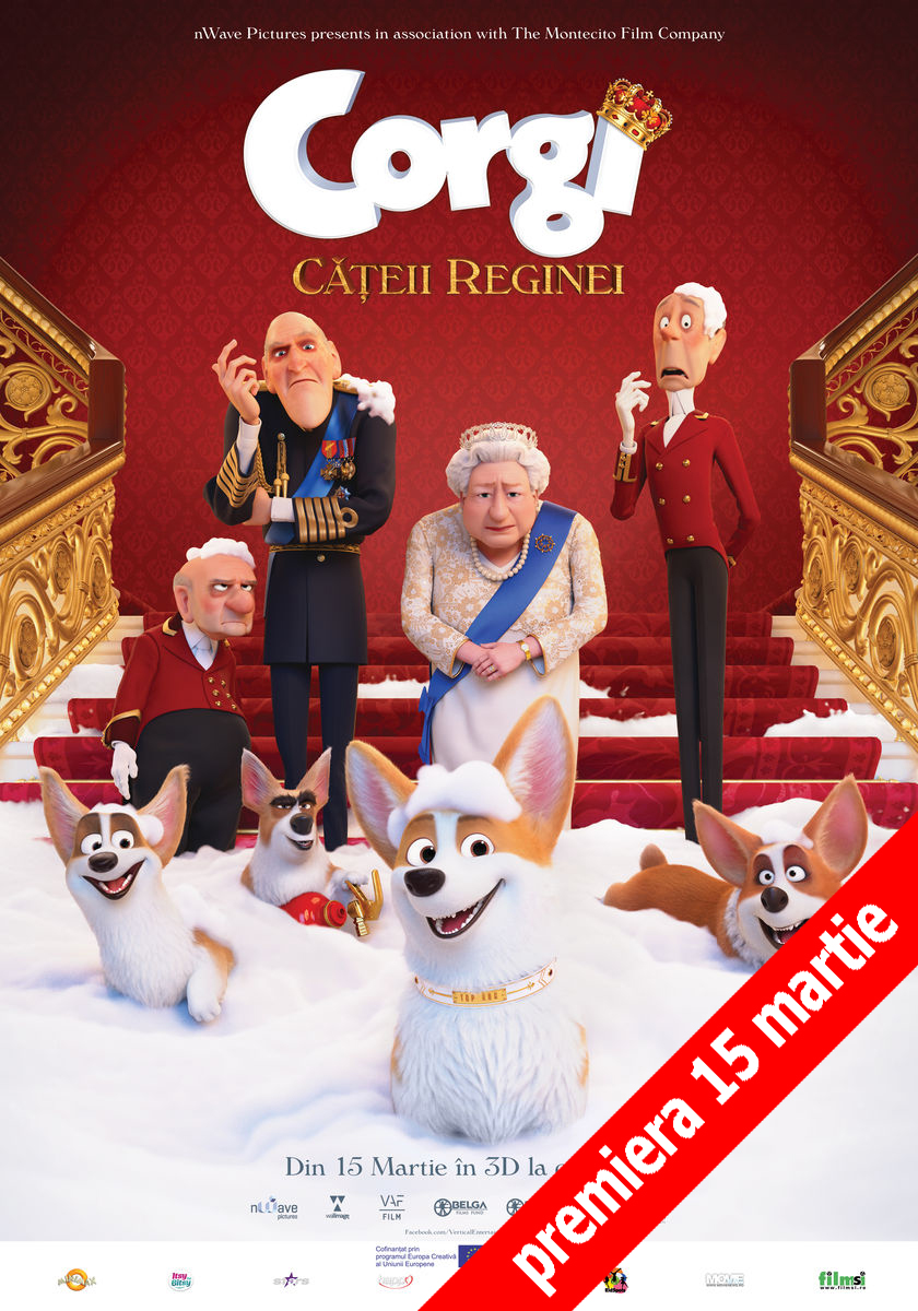 Afis 3D Corgi, Cățeii reginei - dublat (The Queen's Corgi )